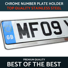 1 x Luxury Chrome Stainless Steel Number Plate Holder Surround for any Peugeot