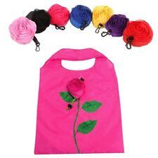 Reusable Shopping Bag Rose Folding Totes Grocery Handbag Eco Shoppers Drawstring