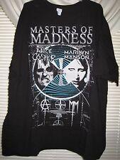 Marilyn Manson Alice Cooper 3Xl Madness Tour Shirt Ac/Dc Icp Slipknot Rob Zombie
