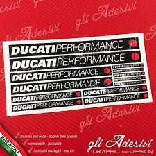 Set 13 Adesivi DUCATI Performance OLD moto Nero e Bianco
