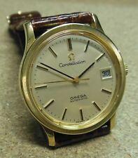 Orologio OMEGA WATCH CONSTELLATION oro 18k- cassa a 3 pezzi- anni '60- 34 mm.