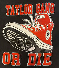 Vintage Wiz Khalifa T-Shirt Taylor Gang Or Die Graphic Converse Shoes Retro 4XL