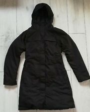 "The North Face Hyvent Goose Down ""S"" Womens Jacket Black Long Coat Parka"