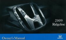2009 Honda Ridgeline Owners Manual User Guide Reference Operator Book Fuses OEM