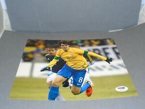 Ricardo Kaka Signed Team Brasil 8x10 Photo Autographed PSA/DNA COA 1A