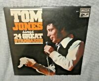 """Tom Jones Sings 24 Great Standards 12"""" LP Vinyl Record x 2 Double Album"""