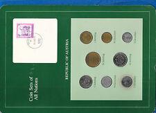 Coin Sets of All Nations Austria 1981 UNC 20,10,5,1 Schilling 50,10,5,1 Groschen