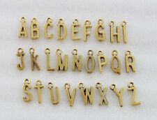 156PCS Antiqued Gold Colour Metal alphabet letter charms Jewelry Making