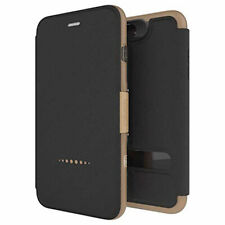 Black/Gold Flip Cover For iPhone 7 Plus/8 Plus Book Case D3O Oxford by Gear4