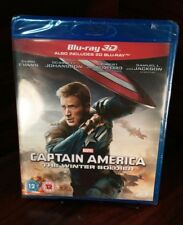 Marvel's Captain America:Winter Soldier(3D+Blu-ray,2014)REGION FREE-NEW-Free S&H