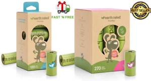 """Earth Rated Dog Poop Bags, Extra Thick and Strong- 9""""x13"""" Size - up to 900 Bags"""