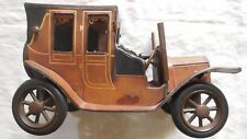 MODELLINO AUTO LANCIA 1910 CUOIO LEATHER MADE IN ITALY HAND MADE VINTAGE TOY