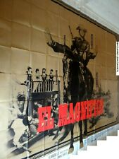 terence hill EL MAGNIFICO !  affiche cinema 8 PANNEAUX  3x4m western 1972