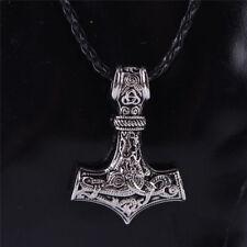 Thor's Hammer Necklace - viking metal asatru heathen pagan nordic Mjolnir biker