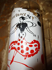 Vintage 1950's or 1960's Square Dance Glass Tumbler