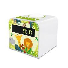 Radio réveil veilleuse enfant style Jungle - vert et blanc