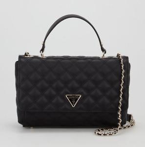 New Guess Cessily Convertible Crossbody Bag - Black