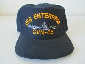 USS ENTERPRISE CVN-65 SHIP BALL CAP/ HAT - NAVY BLUE NWT-ADJUSTABLE- FITS ALL