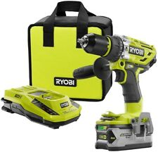 Ryobi Hammer Drill Kit 18V ONE+ 750 in-lbs Torque Heavy Duty Concrete Drilling
