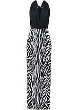 Multiwaykleid Gr. 36 38 schwarz weiß Animal sexy Maxikleid Wickelkleid