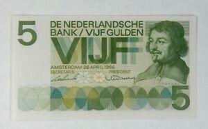 Netherlands 5 Gulden 1966, P-90 UNC