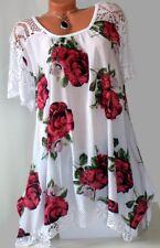 ITALY schöne Longshirt,Tunika,Zipfel,Shirt,Oversize,Spitze,Gr.50,52,54,Neu