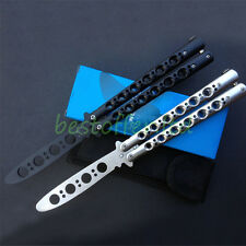NO SCREWS PRACTICE BALISONG BUTTERFLY KNIFE DULL BLADE TRAINING TRAINER + SHEATH