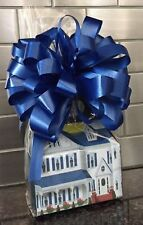 Welcome Home Candy Gift Box-Basket Wrapped With Blue Bow & Card