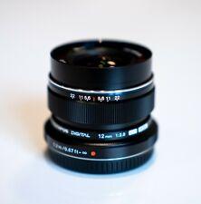 Olympus M. Zuiko Digital ED 12mm f2.0 Nero Obiettivo 12 mm f/2 LENS BLACK