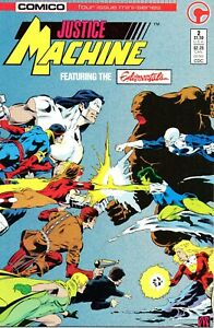 Justice Machine 2 (July 1986, Comico) Discount Shipping The Elementals Fine Plus