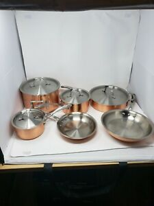 New w/o Box Calphalon T10 Tri-Ply Copper & Stainless 10 Piece Cookware Set