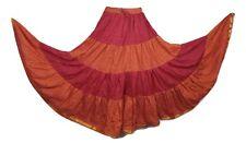 Boho Gypsy Hippie Maxi Skirt Tribal Silk Sari Ethnic Bollywood Belly Dance P/O