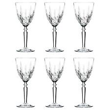 6x Wine Glasses Set RCR Crystal Cut Glass Stemware Goblets White Red 290ml