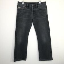 Diesel Industries Mens Sz 32x32 Viker Straight Leg Jeans Gray Cotton