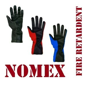 Nomex & Leather Fire Retardant Gloves Pilot,Driving,Racing,Flying-Touch screen