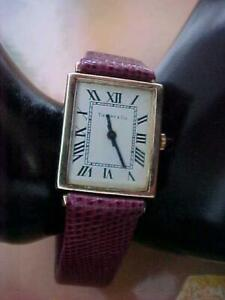 1977 VINTAGE TIFFANY & CO. 14K YELLOW GOLD WOMANS WIND UP WATCH