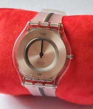 Rare New Swatch Swiss Watch Ultra Thin 'SKIN' slim clear