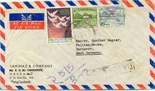 BANGLADESH 1973 mixed franking Bangladesh with Pakistan hand stamp overprints