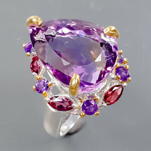 11ct+ One of a kind Ametrine Ring Silver 925 Sterling  Size 9 /R178270