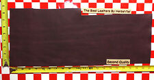 """AUTHENTIC HORWEEN LIGHT PLUM #31 4 Oz. LEATHER HIDE 21""""x8"""" 2nd Quality"""