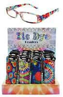 2 PAIR TIE DYE FRAME READING GLASSES WITH protective NEOPRENE CASE adult readers