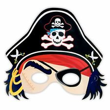 Treasure Paper Pirate Eye Mask with Hat Kids Childrens Fancy Dress Party Favours