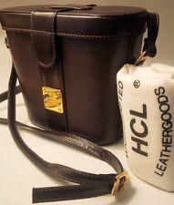 NWOT HCL HANDCRAFTED LEATHERGOODS CAMERA BAG SHOULDER BAG BROWN MADE IN GERMANY