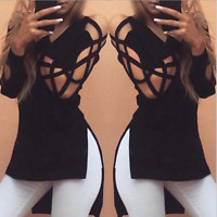 Sexy Fashion Women Special Sleeve V-Neck T-shirt Casual Loose Blouse Tops Tee