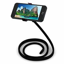 Cell Phone Holder Heavy Duty Bendable Metal Arm Universal Fit iPhone Samsung Etc