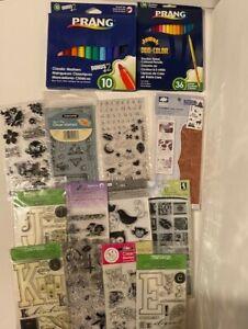 Stamp Lot - Hero Arts, Kodomo Inc, Scrappy Cat, Fiskars, and more