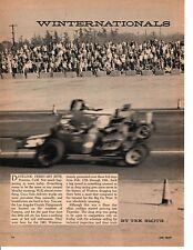 1961 NHRA WINTERNATIONALS DRAG RACES AT POMONA ~ ORIGINAL 8-PAGE ARTICLE