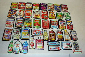 Lot of 42 VINTAGE Topps 1967 Wacky Packs Diecut Punched Tan Back Cards!