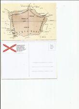 Bouvet Island 1927 map postcard
