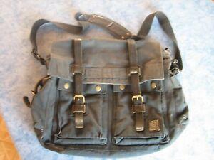 Original Belstaff Colonial Messenger Bag schwarz, vintage, Tasche